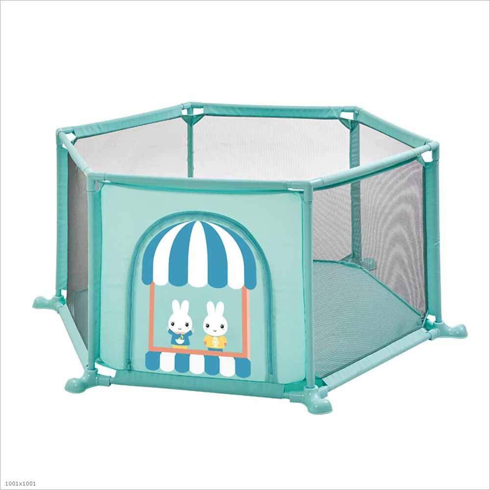 DENGDAI Recinzione di Gioco per Bambini, 6-Pannello Pieghevole Indoor e Outdoor Compatto Game Center,verde