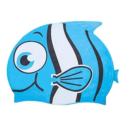 Animaux de dessin animé de poissons en forme d'animal de natation capuchon imperméable à l'oreille de silicone (A)