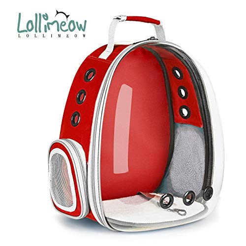Lollimeow Pet Carrier Backpack,Space Capsule Transparent Backpack for...