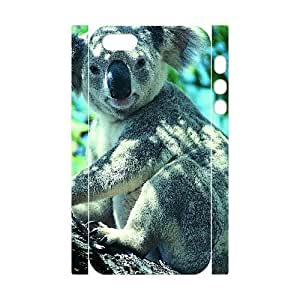 3D Bumper Plastic Customized Case Of Koala for iPhone 5,5S
