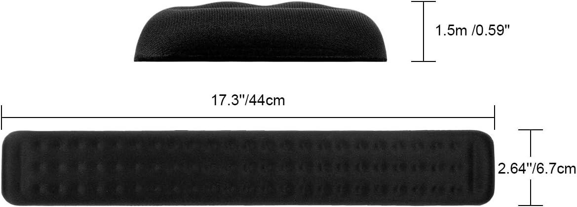 PC e Computer ELZO Poggiapolsi per Tastiera con Memory Foam Mac Book Nero, 1 /× per Tastiera Notebook Wrist Rest Cuscinetto di Supporto per Palmi e Polsi per Computer Portatile