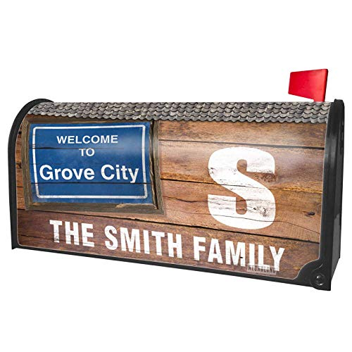 NEONBLOND Custom Mailbox Cover Sign Welcome to Grove City]()