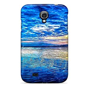For Galaxy S4 Tpu Phone Case Cover(fresh Blue Reflection)