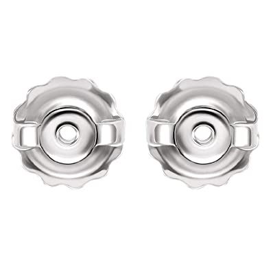 5300ffaa6 Amazon.com: 14k Replacement Earring Threaded Backs Solid White Gold 0.034