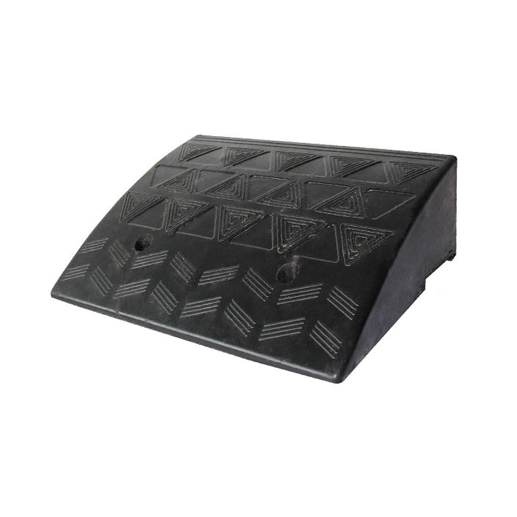 Wheelchair Wheelchair Uphill Pad, Road Along The Slope Slope Pad, Vehicle Ramps Portable Large Road Tooth Threshold Pad, 7.7-10.7CM (Size : 48.8 * 30 * 10.7CM)