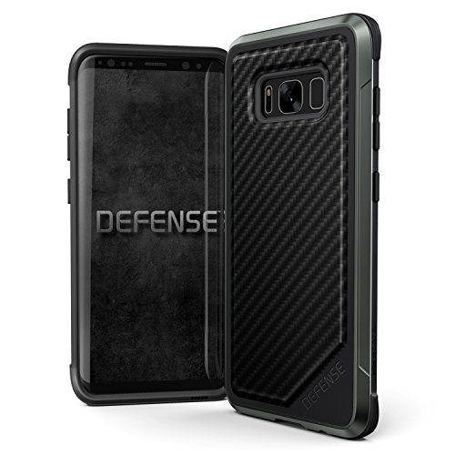 Samsung Galaxy S8 Case, X-Doria Defense Lux - Military Grade Drop Tested, Anodized Aluminum, TPU, and Polycarbonate Protective Case for Galaxy S8, [Black Carbon - Case Anodized
