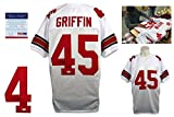 Signed Archie Griffin Jersey - White - PSA/DNA Certified - Autographed College Jerseys