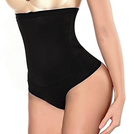 aadc5dd460 Womens Shapewear Panties Bodysuit Body Shaper High Waist Tummy Control  Seamless Strapless Slimming Panty Briefs (
