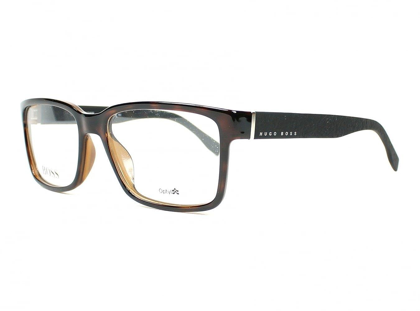 HUGO BOSS Men's BOSS 0831 Z2I 55 Sunglasses, (Havana Black)