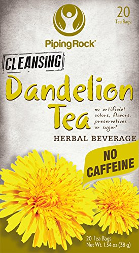 Piping Rock Dandelion Root Herbal Tea 20 Bags Cleansing No Caffeine