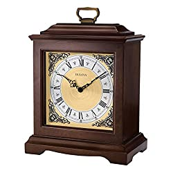 Bulova Thomaston Mantel Clock, Brown