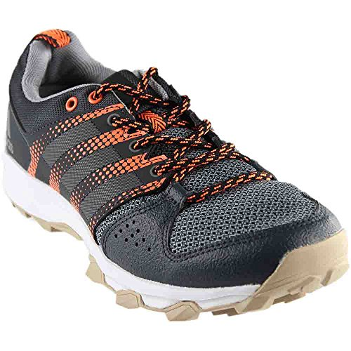 adidas Originals Women's Galaxy W Trail Runner, Dark Grey/Tech Grey/Glow Orange, 11 M US