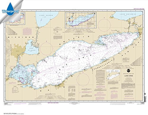 NOAA Chart 14820: Lake Erie 33 x 42.6 (WATERPROOF)