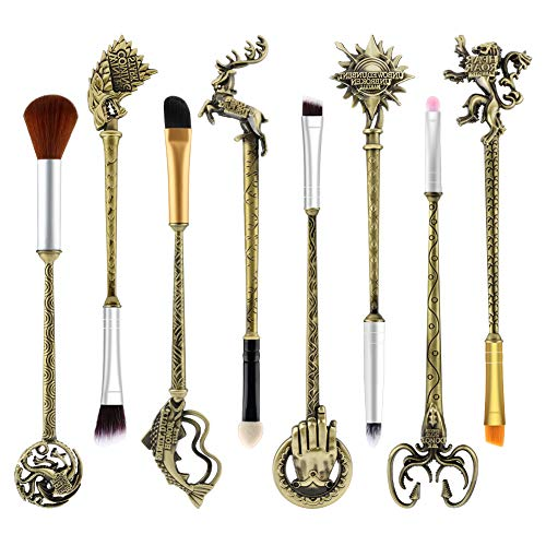 Game of Thrones Makeup Brushes Set,WeChip Wand Makeup Brushes for Foundation Blending Blush Concealer Eyebrow Face Powder