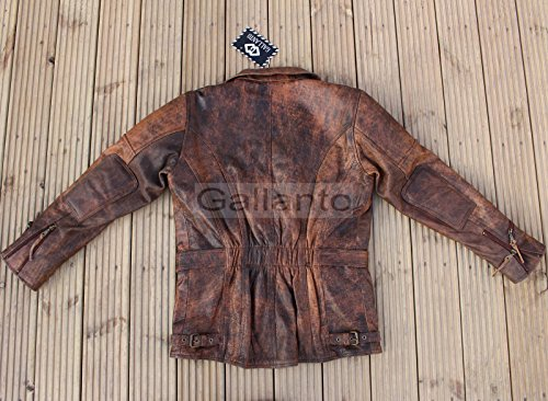 f5ff1aad09e Gallanto Eddie Mens 3 4 Motorcycle Biker Brown Distressed Vintage Leather  Jacket