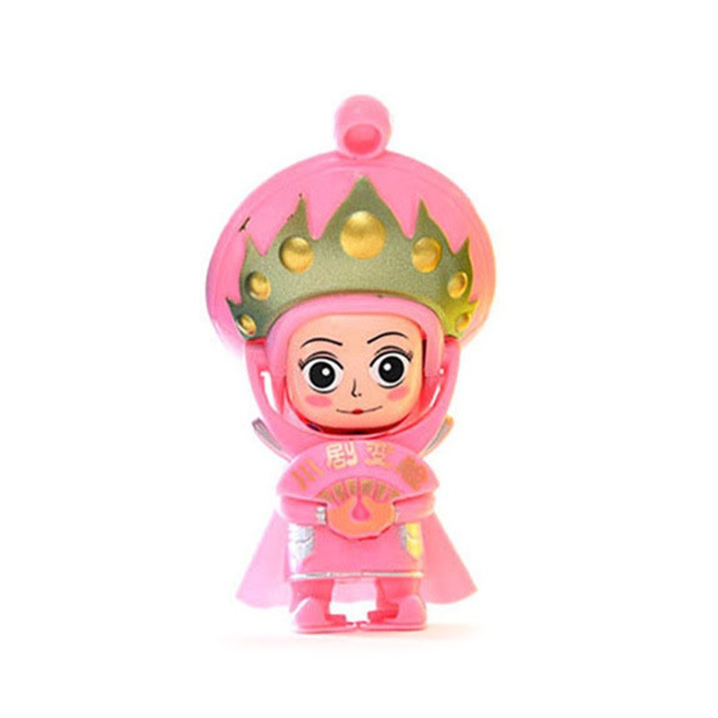 DierCosy Sichuan Chinese Opera Face China Tradition Culture Changing Doll Figure Toy Baby Game Magic Toys Pink