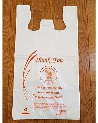 Bolsas de la compra de plástico Oxo-biodegradable, tamaño grande ...