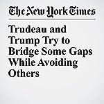 Trudeau and Trump Try to Bridge Some Gaps While Avoiding Others | Richard Pérez Peña,Ian Austen