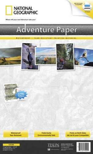 Paper Map National Geographic Adventure (Adventure Paper Legal)