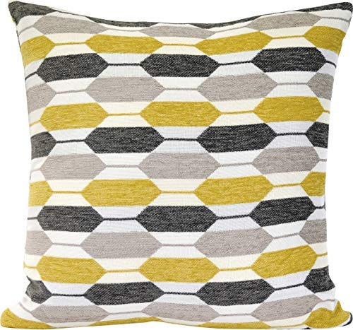 Urban Loft by Westex Modern Hexagon Feather Filled Decorative Throw Pillow Cushion 20