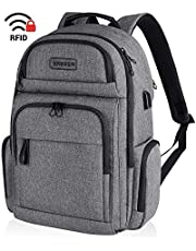 KROSER Travel Laptop Backpack Stylish 15.6 Inch Computer Backpack with Hard Shelled Saferoom RFID Pockets Water-Repellent Sturdy School Daypack for Work/Business/College/Men/Women