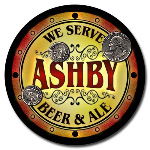 Ashby Family Golden Beer & Ale Rubber Drink Coasters