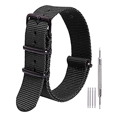 Ritche Nato Strap 16mm 18mm 20mm 22mm Replacement Nylon Watch Band