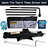 Autofu Spare Tire Tool with Scissor Jack Kit for 2000-2014 Chevy Silverado / 2000-2014 GMC Sierra