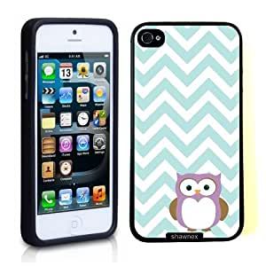 Iphone 5 5S Case Thinshell Case Protective Iphone 5 5S Case Shawnex Owl Mint Chevron