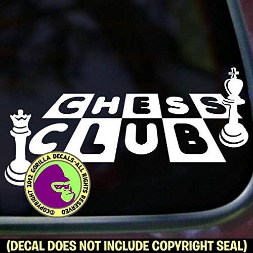 dd6c8d0a9f649 Amazon.com: CHESS CLUB Game Vinyl Decal Sticker A: Handmade