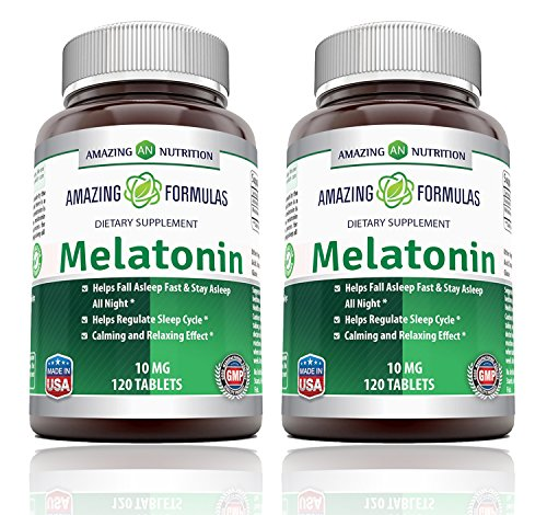 Amazon.com: Amazing Nutrition Melatonin for Relaxation and Sleep, 10 Mg, 250 Tablets Economy Size : Health & Personal Care