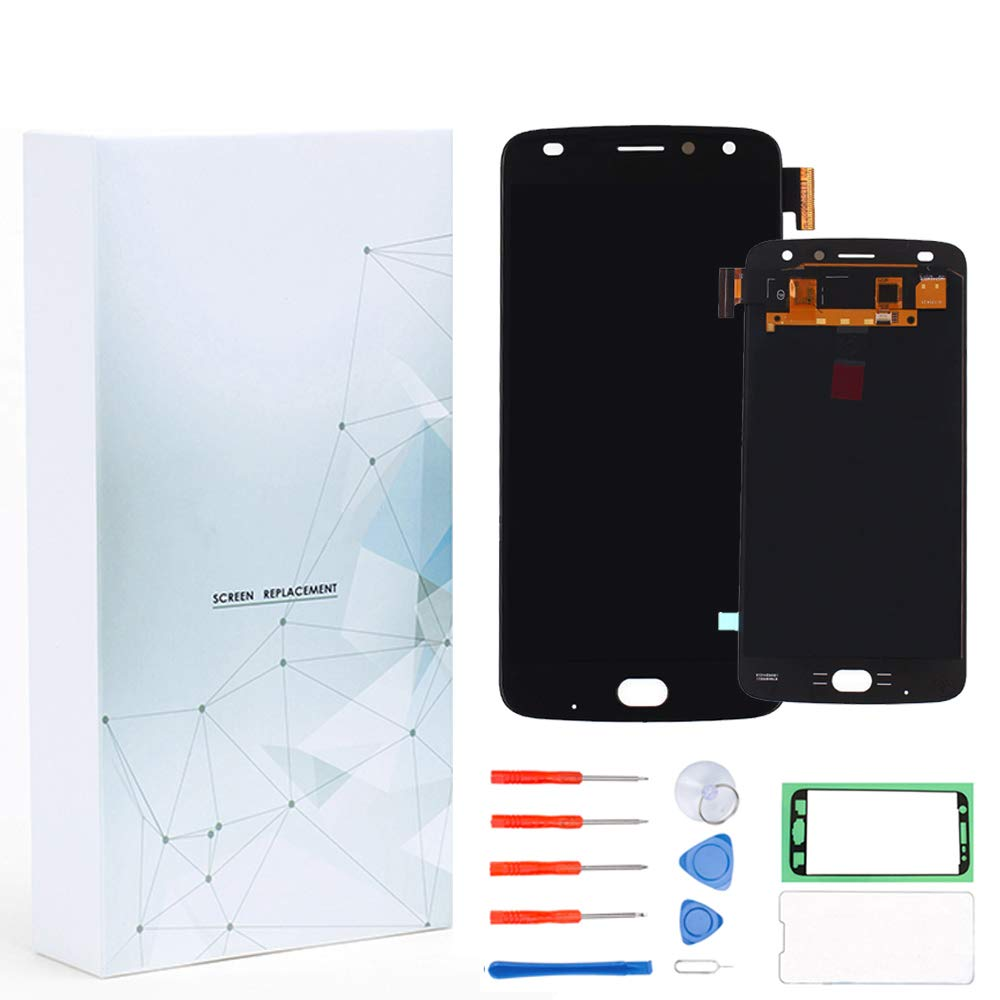 KNONEW Screen Replacement Compatible for Motorola Moto Z2 Play XT1710-01 XT1710-02 XT1710-06 XT1710-07 XT1710-08 XT1710-09 XT1710-10 XT1710-11 5.5'' LCD Display Touch Digitizer Assembly + Tools(Black)