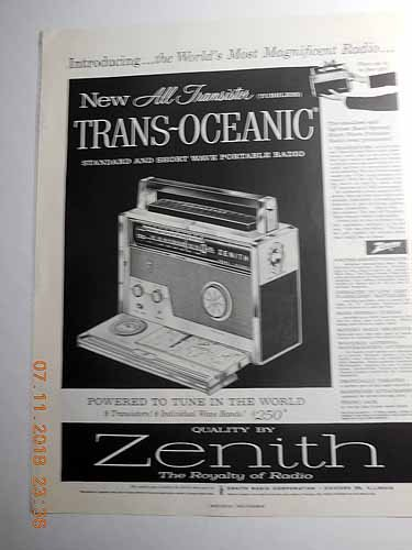 Advertisement: Zenith the Royalty of Radio