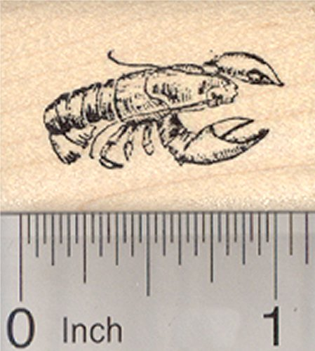 Lobster Rubber Stamp, Crustaceans, Seafood, Clawed, Small