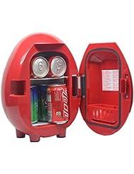 Generic 12V Car Truck Cooler Food Warmer 110V Termoelectric Mini Portable Refrigerator Fridge a Good Present,Red,4L