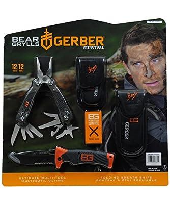 Bear Grylls Folding Sheath Knife & Multi-Tool Gerber Survival Gear by Gerber
