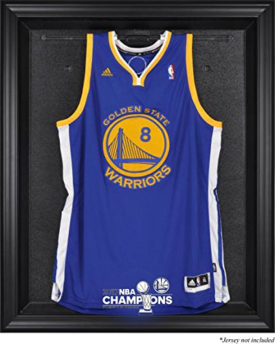 Golden State Warriors 2017 NBA Champions Jersey Display Case With Black Frame