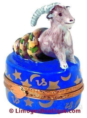 Capricorn - French Limoges Boxes - Porcelain Figurines Collectible Gifts