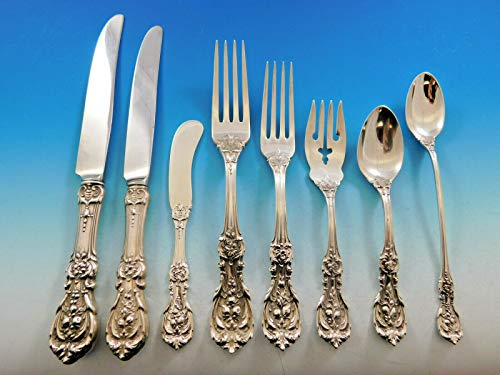 - Francis I by Reed & Barton Sterling Silver Flatware Set 8 Old Mark 70 pcs Dinner