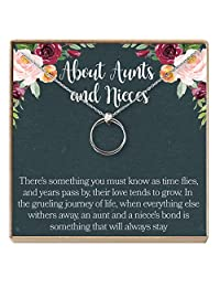 Dear Ava Aunt-Niece Necklace: Aunt-Niece Gift, Aunt-Niece Jewelry, Aunt-Niece Quotes, Aunt Necklace, 2 Linked Circles
