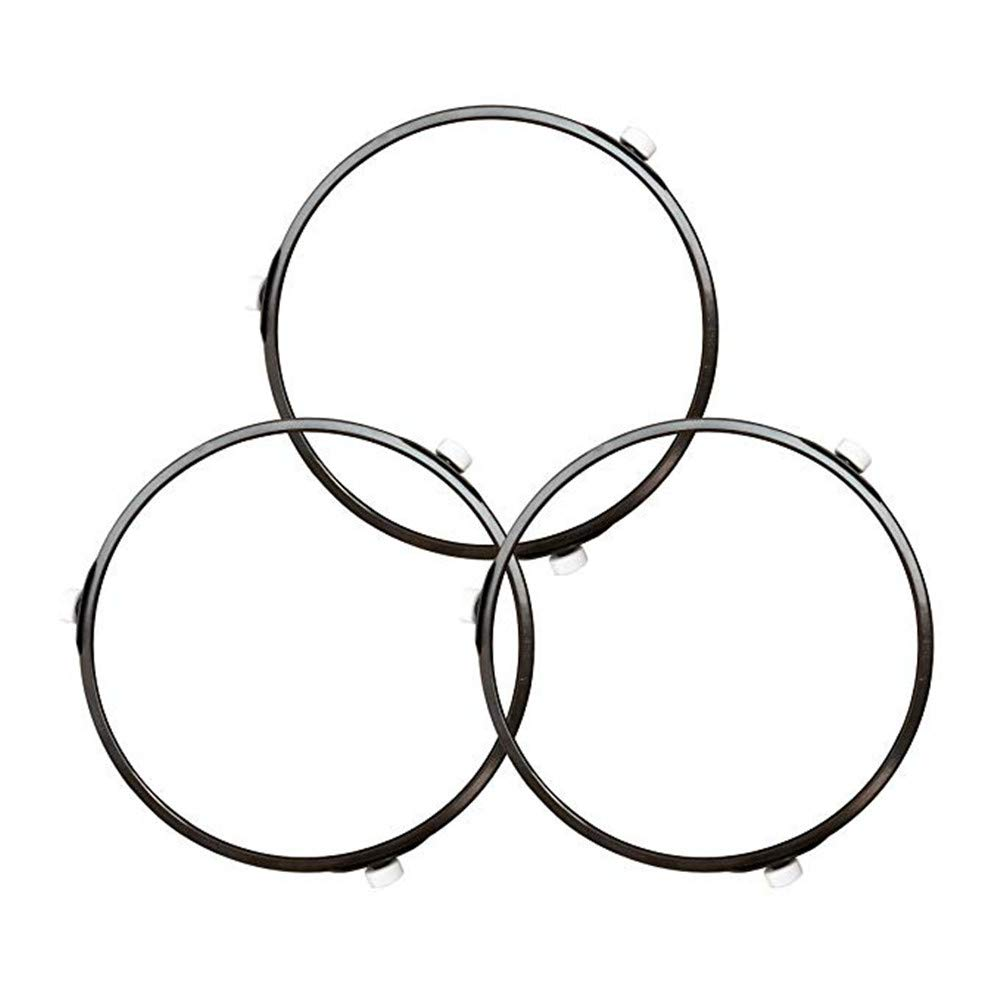 "3 Pcs Microwave Oven Turntable Support 7 Inches Dia Roller Wheel Tray Rotating Ring Support for 12.5"" Microwave Glass Turntable Plate"