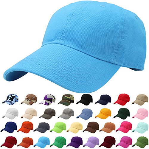 Falari Baseball Cap Hat 100% Cotton Adjustable Size Turquoise 1824]()
