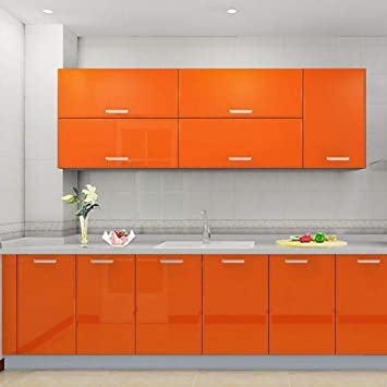 Kinlo 5 0 61m Stickers Meubles Auto Adhesif Orange Armoire De