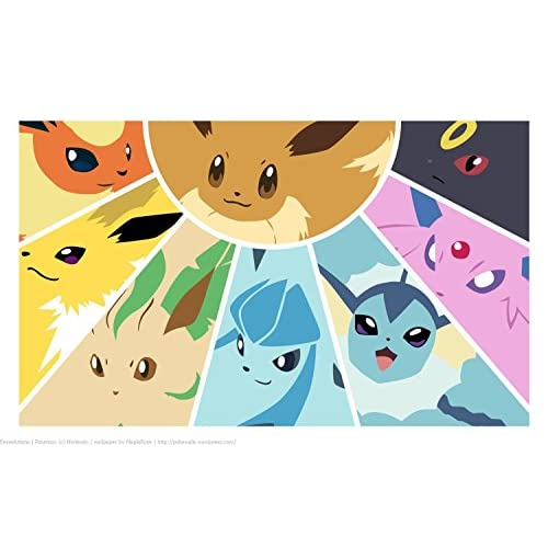 best Pokemon Eevee Evolution Playmat + Free RFG Small Sized