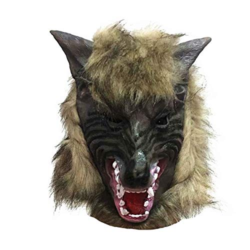 Transer- Wolf Mask, 3D Terror Solid Cosplay Full Wolf Head Ghost Masks for Halloween Party Masquerade Ball -