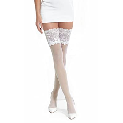 Conte Women's Thin Sheer Stockings 20 Denier - Ivory, Medium - Large at Amazon Women's Clothing store