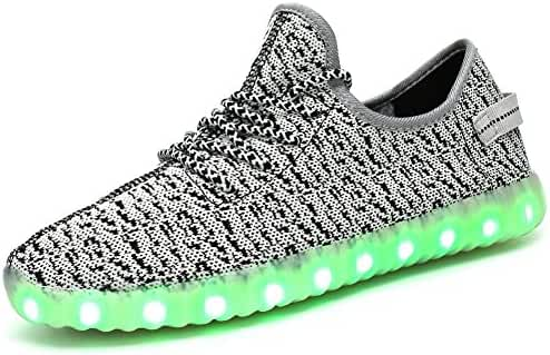 GreatJoy Adults/Kids LED Shoes Light Up Sneaker with USB Charging Fashion Gift
