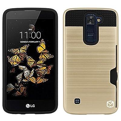 LG Escape 3 Case, LG Phoenix 2 Case, LG K8 Case, MP-Mall [Shock Absorbent] [Card Slot] Armor Hybrid Defender Shockproof Rugged Protective Cover Case For LG Escape 3 / LG Phoenix 2 / LG K8 from MP-Mall