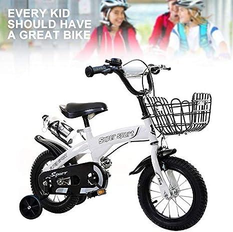 AQJSAJC Bicicleta Infantil para niñas y niños a Partir de 3, 4, 5 ...