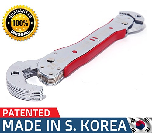 "Adjustable Auto-Ratcheting Crescent Magic Wrench set works as combination Multi-function Universal Reversible Ratchet Pop Socket & Monkey Pipe Spanner Sae up to 1 ¾"" Nut-Gear for Craftsman & Plumbers 1 Reversible Ratchet"